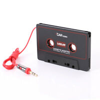 Audio AUX Car Cassette to MP3 CD MD iPod Phone Tape Adapter Converter 3.5mm Red