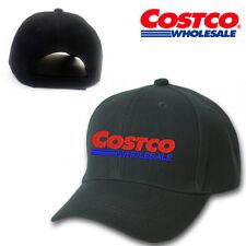 COSTCO WHOLESALE LOGO STITCHED EMBROIDERED BASEBALL CAP BLACK ADJUSTABLE