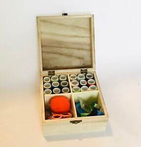 Wooden Sewing Box With Accessories Sewing Kit Gift Set Craft