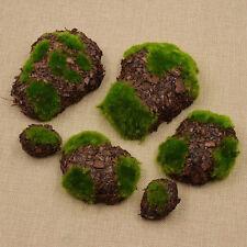 Deko Steine Set Abholz Schaum Beflocken Ikebana 6x Bonsai Künstliche Pflanzen