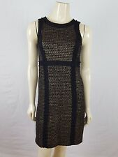 MICHAEL KORS sleeveless professional Sheath black and gold dress size 2
