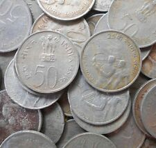 10 Coins Lot - 50 Paise (25th Anniversary of Independence) 1972 - india