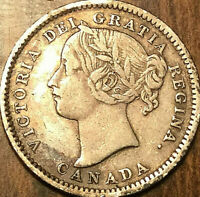 1900 CANADA SILVER 10 CENTS DIME