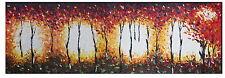 150cm x 50cm canvas art print landscape bush fire Australia painting