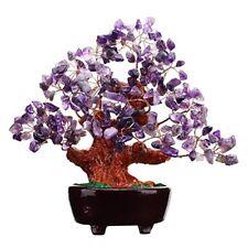 7 Inch Purple Crystal Money Tree Feng Shui Natural Amethyst Quartz Gem Stone