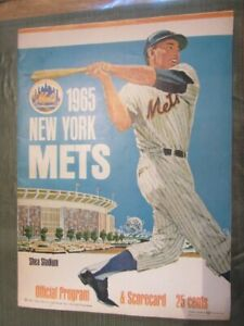 1965 NY METS Vs. GIANTS Shea Stadium PROGRAM & SCORECARD (Scored)