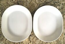 2 Corelle Livingware WINTER FROST WHITE 12x10 SERVING PLATTER Meat Plate Tray