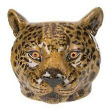 Leopard Face Ceramic Egg Cup By Quail BRAND NEW Comes Boxed, Wild Animal Gift