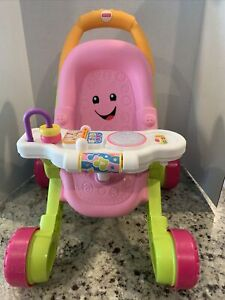Fisher-Price-Laugh & Learn Stroll and Learn Walker, Flipbook,Light up snack bowl
