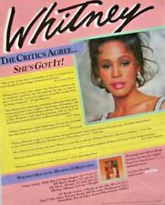 WHITNEY HOUSTON 1985 POSTER ADVERT DEBUT ALBUM arista records