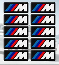 10 AUTOCOLLANT STICKER 3D LOGO BMW M Mtech JANTES VOLANT M3 E46 E60 E81 E90 E92