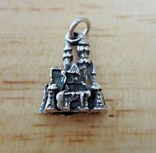 Sterling Silver 17x12mm Detailed 3D Princess Castle Charm! Cute!!