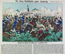 Deutsch-Französischer Krieg Sedan 1870 Bayern Chevauleger Raupenhelm Kürassier