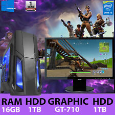 ULTRA FAST Gaming PC Bundle Intel Core i5 16GB 1TB Windows 10 2GB GT710