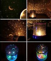 LED Projecteur Coloré Ciel Étoile Lune Veilleuse Fête Soirée Pour Enfant Décor