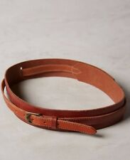 NWOT Anthropologie Cedar Brown Corset Leather Wrap Belt Size Small