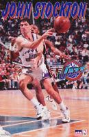 POSTER : NBA  BASKETBALL: JOHN STOCKTON - UTAH JAZZ - FREE SHIPPING !  RC41 H