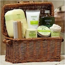 Healing Spa 8pc Inspiration Bath Basket - Avocado, Olive Oil, and Lemon