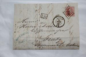Brief/Rechnung von Lüttich nach Graz, Auguste Francotte Waffenschmiede, 1865