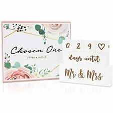 Mr &amp Mrs Wedding Countdown Block Set By Chosen One - Double Sided Calendar