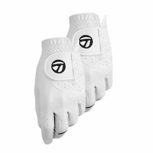 TaylorMade Stratus Tech 2-Pack Men's 2018 Golf Glove White - Pick Size