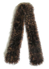 New Womens Ladies Fluffy Brown Caramel Multi Knitted Scarf Handmade