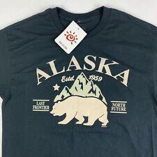 Del Sol Alaska Black T- Shirt Medium Color Changing Last Frontier North Future