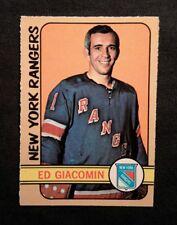 1972 72-73 OPC Ed Giacomin  (173) HOF N.Y. Rangers Mint ! Beauty Look