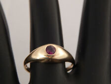 100% Natural Top Grade Ruby Solitaire Engagement Ring .20 ct 14k Yellow Gold