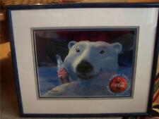 Coca Cola Polar Bear Coke ART Set Signed CEL 128/200 LTD Print Frame Certificate