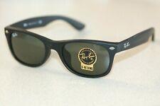 Ray-Ban New Wayfarer Gafas De Sol RB2132F 622 Matt Negro Con Lentes Verdes G-15
