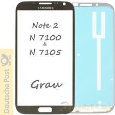 Samsung Galaxy Note 2 n7100 & n7105 pantalla táctil frontal cristal gris