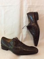 Men's Grinders Brown Leather Shoes Size 42