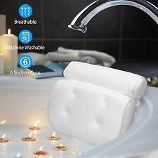 3D Spa Mesh Bath Pillow Bathtub Cushion Neck Back Support With 6 Suction Cups