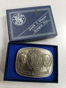 1977 SMITH & WESSON Belt Buckle Model 660 Brass S&W