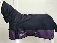 AXIOM 600D WATERPROOF DARK NAVY/PURPLE 300g PADDOCK HORSE COMBO RUG - 6' 0