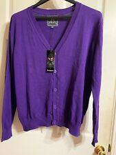 Kamee Womens Purple Sweater Cardigan Button Down Size XL