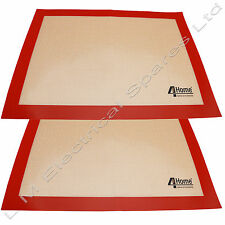 2 x Large Silicone Cooker Non-Stick Oven Baking Tray Liner Cooking Baking Mat