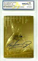 KEN GRIFFEY JR 1997 FLEER 23K GOLD 1989 WCG GEM MT 10 AUTOGRAPHED ROOKIE CARD!