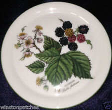 "SELTMANN WEIDEN GERMANY WALDBEERE COASTER 4"" BROMBEERE BERRIES FLOWERS LEAVES"