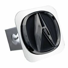 "Acura Black and Chrome Stainless Steel 1.25"" Trailer Tow Hitch Cover"