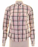 JACK WILLS Womens Shirt UK 8 Small Multicoloured Check Cotton  FB03