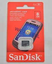 GENUINE SanDisk 8GB Micro SDHC Memory Card 8 GB Class 4 SD TF BRAND NEW!