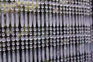 CASA Türvorhang FREJUS 2 Perlenvorhang Fliegenvorhang Balkonvorhang transparent