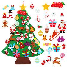 Felt Christmas Tree Santa Ornaments Kids DIY Xmas Gift Wall Door Hanging Decor