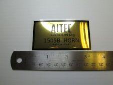 "ALTEC 1505B Horn Loudspeaker Driver  ""DECAL"" New!"