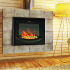 HOMCOM Adjustable 1500W Electric Fireplace Wall Mount Heater Elegant Glass View