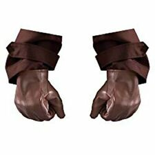 Watchmen Rorschach Adult Halloween Brown Costume Gloves Hands