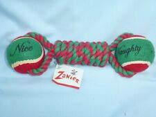 NAUGHTY & NICE TUG  Christmas Dog Toy  RED/GREEN  by ZANIES  New w/ Tag