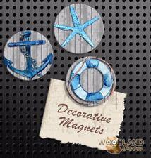 Nautical Magnets, Set of 3 Handmade Fridge Magnets, School Locker Gift Set